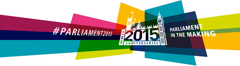 Brand identity for Houses of Parliament 2015 Anniversaries: Parliament in the Making. Image shown - web banner